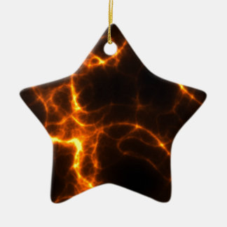 Electric Shock in Orange Christmas Ornament