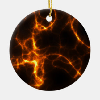 Electric Shock in Orange Christmas Ornament