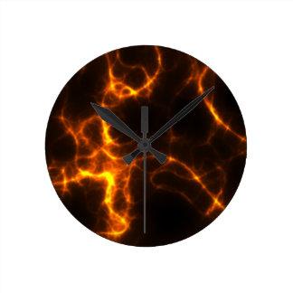 Electric Shock in Orange Clock