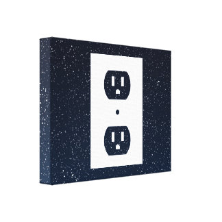 Electric Sockets Graphic Gallery Wrapped Canvas