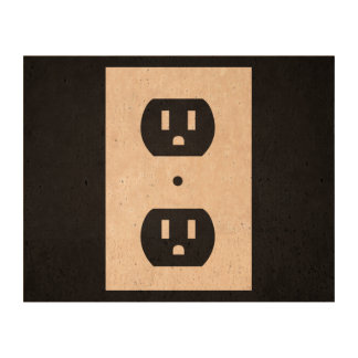 Electric Sockets Graphic Cork Paper
