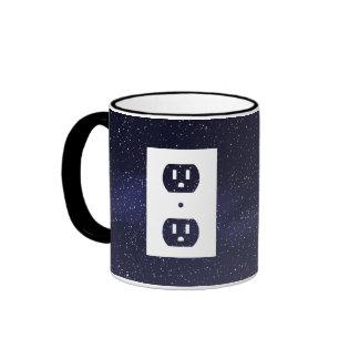 Electric Sockets Graphic Ringer Mug
