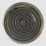 Electric Stove Burner Round Stickers