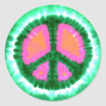 Electric Tie-Dye Peace Sign Round Sticker