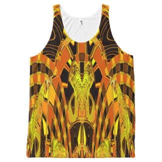 Electric Tiger Abstract Art All-Over Print Tank Top