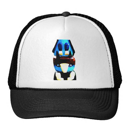 Electric Totem Pole Mesh Hat