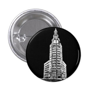 Electric Tower in Black 3 Cm Round Badge
