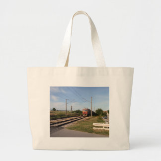 Electric Train Tote Bags