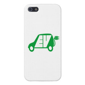 Electric Vehicle Green EV Icon Logo - iPhone 5 Covers