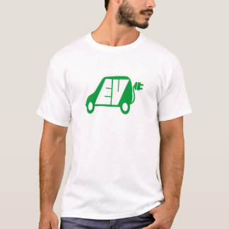 Electric Vehicle Green EV Icon Logo -T-Shirt T-Shirt