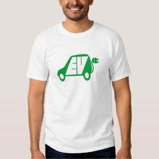 Electric Vehicle Green EV Icon Logo -T-Shirt Tees