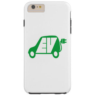 Electric Vehicle Green EV Icon Logo - Tough iPhone 6 Plus Case