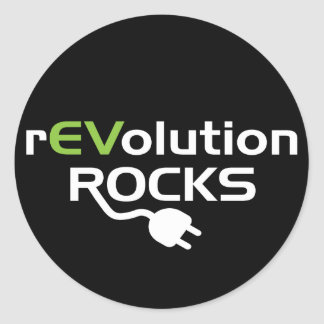 Electric Vehicles Rocks Round Sticker