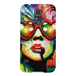 Electric Wasteland Heart Shaped Sunglasses Pop Art Galaxy S5 Cover