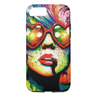 Electric Wasteland Heart Shaped Sunglasses Pop Art iPhone 8/7 Case