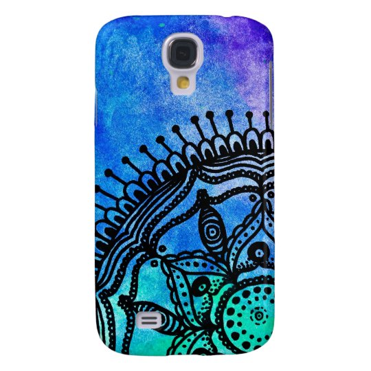 Electric Watercolor Mandala Samsung Galaxy 4S Case