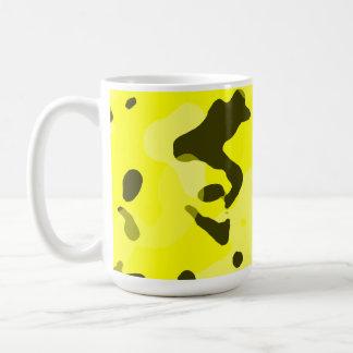 Electric Yellow Camo; Camouflage Classic White Coffee Mug