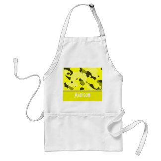 Electric Yellow Camo; Personalized Standard Apron