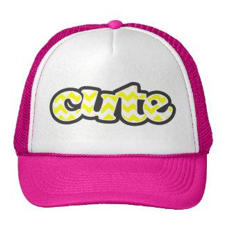 Electric Yellow Chevron Trucker Hat