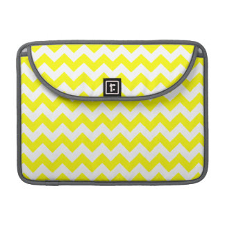 Electric Yellow Chevron Sleeves For MacBooks
