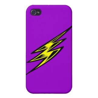 Electric Yellow Lightning Bolt Case For iPhone 4