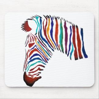 Electric Zebra Street Art Mouse Pad