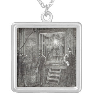 Electrical apparatus for the Clock Tower Silver Plated Necklace