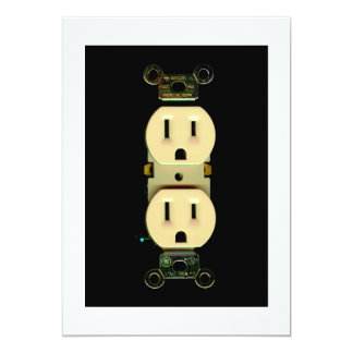 Electrical contractor outlet electricians business card
