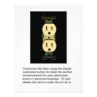 Electrical contractor outlet electricians business personalized flyer