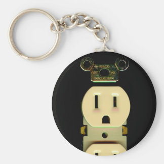 Electrical contractor outlet electricians business key ring