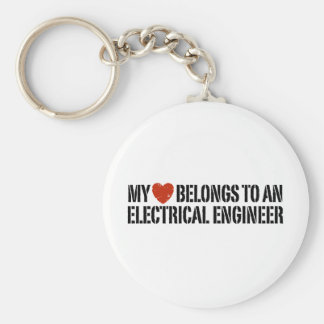 Electrical Engineer Basic Round Button Key Ring