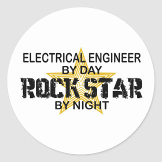 Electrical Engineer by Rock Star Round Sticker