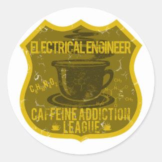 Electrical Engineer Caffeine Addiction League Classic Round Sticker