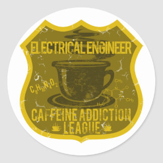 Electrical Engineer Caffeine Addiction League Round Sticker