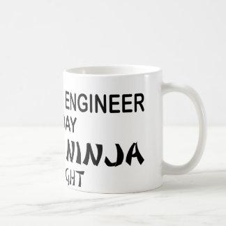Electrical Engineer Deadly Ninja Basic White Mug