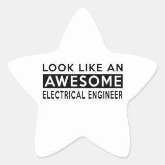 ELECTRICAL ENGINEER DESIGNS STAR STICKER