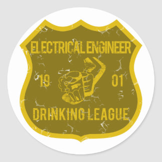 Electrical Engineer Drinking League Round Sticker