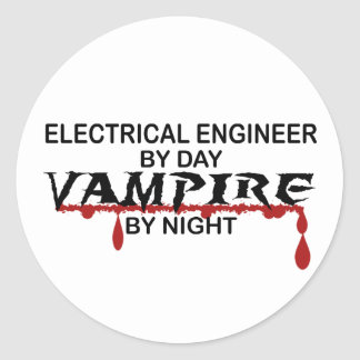Electrical Engineer Vampire by Night Stickers
