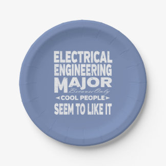 Electrical Engineering College Major Cool People Paper Plate