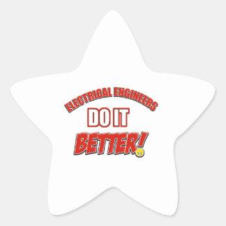 Electrical Engineers designs Star Sticker