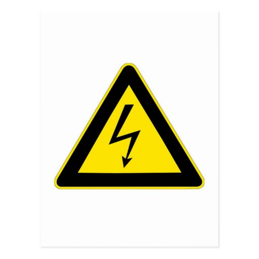 Electrical Hazard Postcard