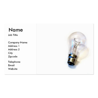 Electrical Lighting Light Bulb Business Card