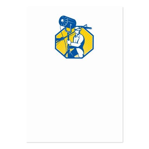 Electrical Lighting Technician Crew Spotlight Business Card Templates