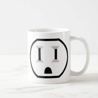 Electrical Outlet (I Don't Run Off Of Coffee?!) Basic White Mug