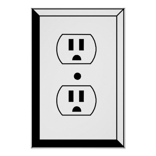 Electrical Outlet or Nerd Art Posters