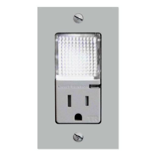 Electrical Outlet with Night Light Business Card Templates