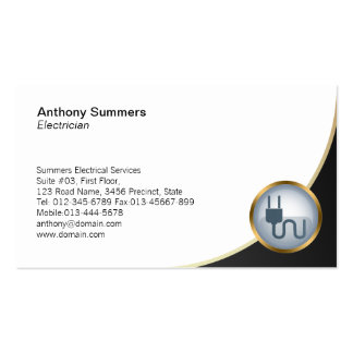 Electrical Plug Icon Electrician Business Card