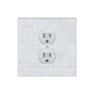 Electrical Plug Wall Outlet Fun Customize This Stone Magnet