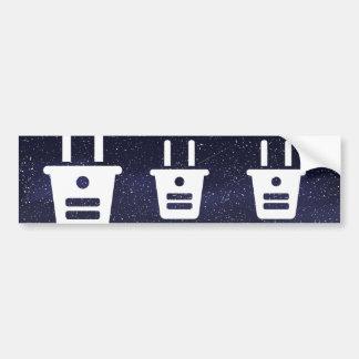 Electrical Plugs Sign Bumper Sticker