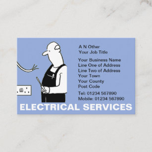Funny business cards zazzle uk electrical services business card reheart Choice Image